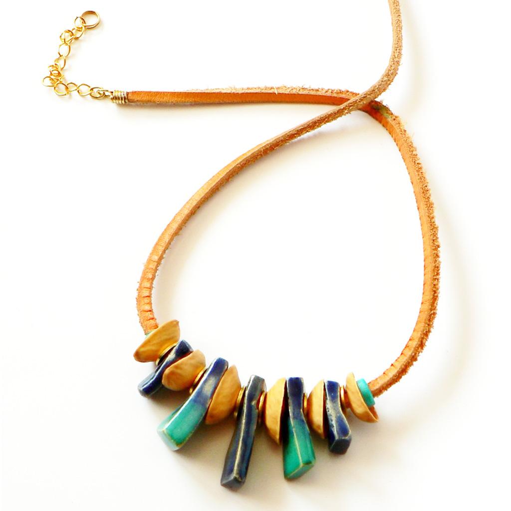 50e64ef5e drevené šperky keramické náramky keramické náušnice keramický náhrdelník  keramický náhrdelník tyrkysový ...